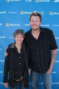 Cathy Luchetti with Blake Shelton
