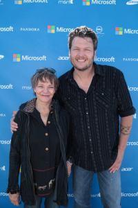 Cathy Luchetti with Blake Shelton