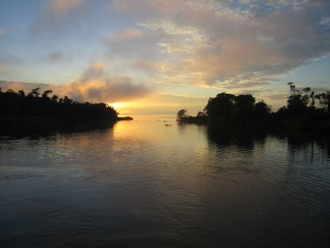 evening on the Amazon